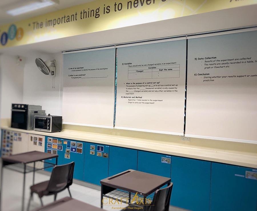 customised blinds printed words