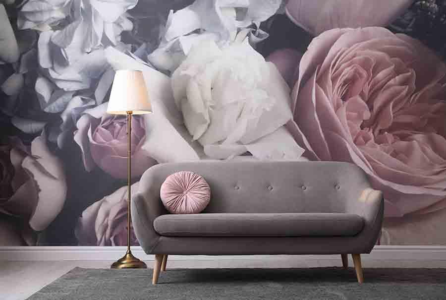 luxury mutiple flower wallpaper design